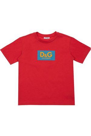 Dolce & Gabbana Herren Shirts - Baumwoll-t-shirt Mit Logodruck