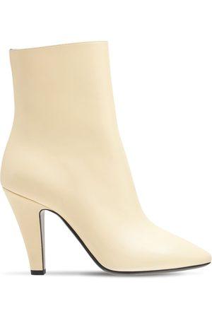 "Saint Laurent Damen Stiefeletten - 95mm Hohe Stiefeletten Aus Leder ""cardinale"""