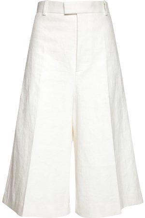 Bottega Veneta Damen Shorts - Bermuda-shorts Aus Leinen