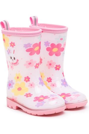 Miki House Stiefel - Floral-print wellie boots