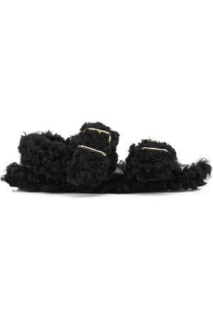 Marni Damen Sandalen - Shearling-trimmed sandals