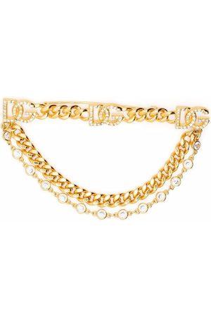 Dolce & Gabbana DG chain-link brooch