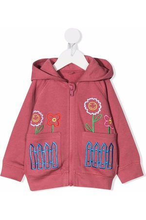 Stella McCartney Shirts - Floral-embroidered hoodie