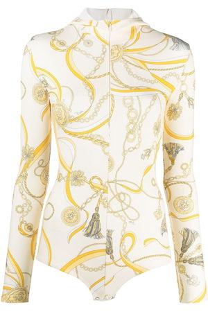 Emilio Pucci Chain-print hooded body
