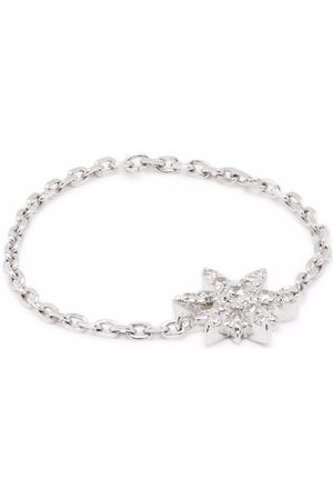 DJULA 18kt white gold Sun diamond chain ring