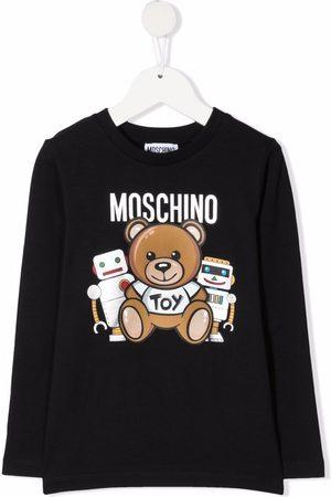Moschino Jungen Lange Ärmel - Logo-print long-sleeve T-shirt