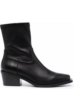 Stuart Weitzman Square toe ankle boots