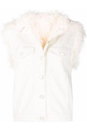 Pinko Damen Westen - Faux-shearling jacket