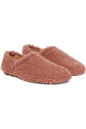 DRIES VAN NOTEN Damen Halbschuhe - Slippers aus Shearling