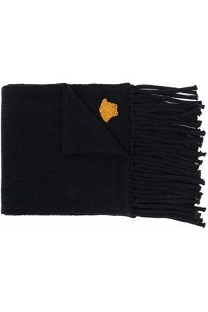 VERSACE Herren Schals - Embroidered-motif fringed-edge scarf