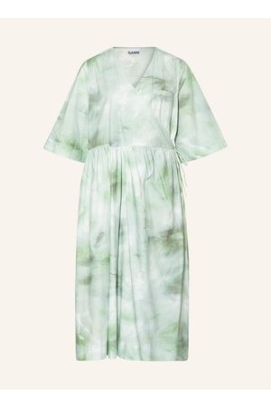 Ganni Damen Freizeitkleider - Wickelkleid gruen