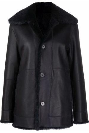Jil Sander Shearling-lined leather jacket