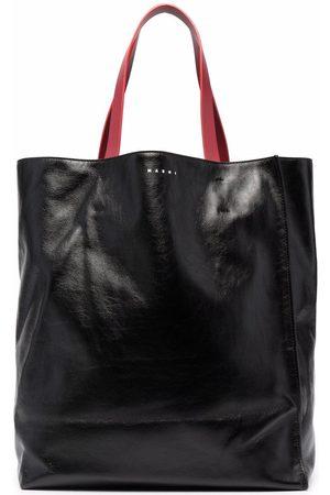 Marni Logo-print leather tote