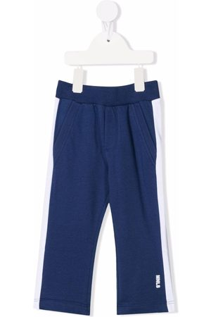 MONNALISA Contrast-panel track trousers