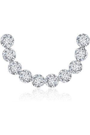 Maria Tash 18kt white Invisible set diamond curve earring