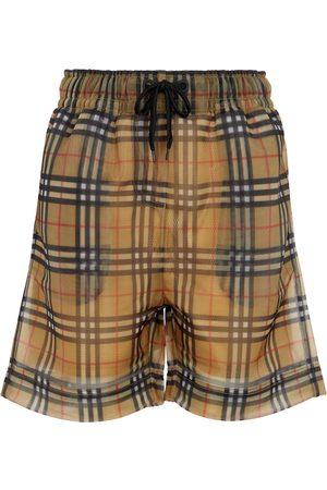 Burberry Shorts Vintage Check aus Mesh