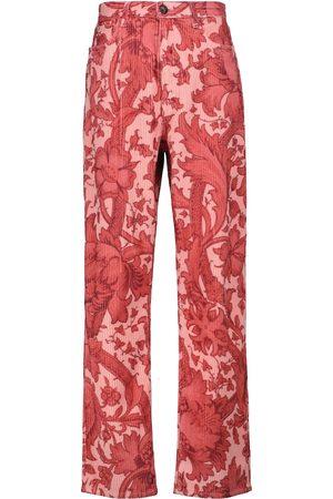Etro Bedruckte Hose aus Cord