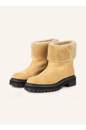 Proenza Schouler Damen Stiefeletten - Plateau-Boots Lug Sole beige