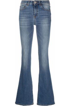 Pinko Damen High Waisted - Flared high-rise jeans