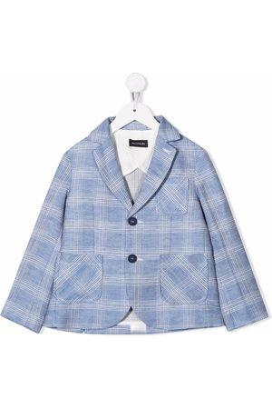 MONNALISA Jungen Blazer & Sakkos - Checked linen-blend blazer