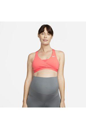 Nike Swoosh gepolsterter Sport-BH mit mittlerem Halt für Damen (Mutterschaftsbekleidung)