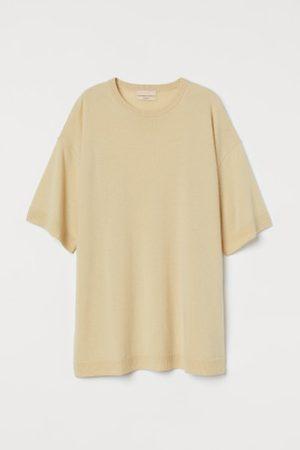 H&M Damen Shirts - Oversized T-Shirt aus Kaschmir