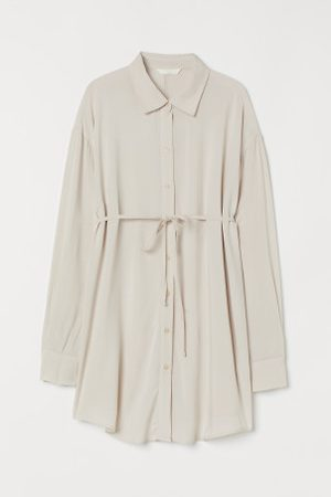 H&M MAMA Bluse mit Bindegürtel