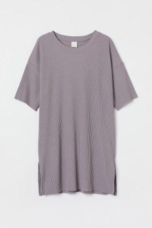 H&M Damen Shirts - Geripptes T-Shirt