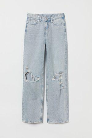 H&M Damen Baggy & Boyfriend - Loose Straight High Jeans