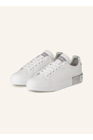 Dolce & Gabbana Damen Sneakers - Sneaker Portofino weiss