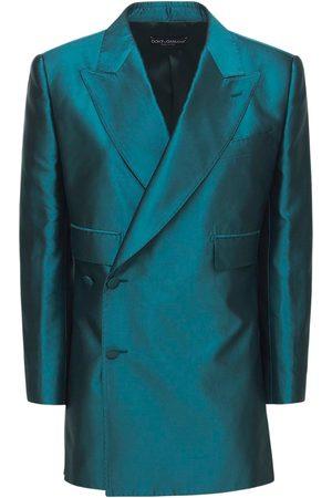 Dolce & Gabbana Damen Blazer & Sakkos - Doppelreihiges Jackett Aus Shantung