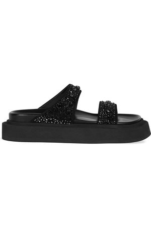 Giuseppe Zanotti Damen Sandalen - Jolanda crystal-embellished flat sandals