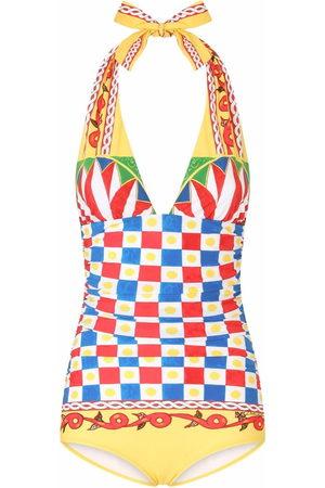 Dolce & Gabbana Carretto-print swimsuit