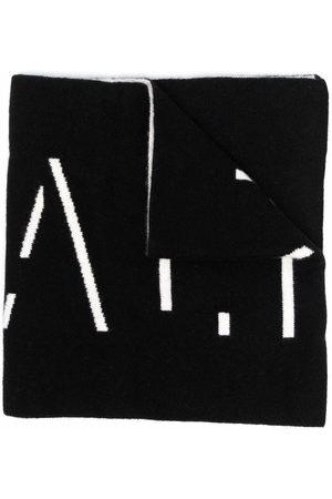Balmain Mädchen Schals - Intarsia-knit logo cashmere scarf