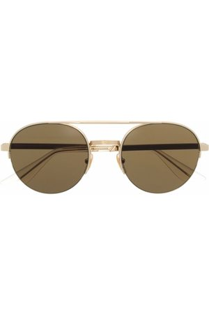 Gucci Two-tone aviator-frame sunglasses