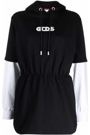 GCDS Damen Freizeitkleider - Logo print hoodie dress