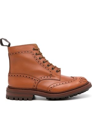 TRICKERS Antique brogue leather boots