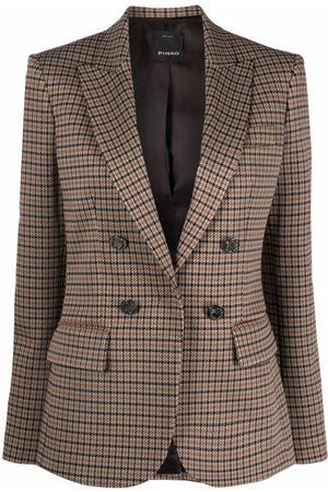 Pinko Damen Blazer & Sakkos - Peak lapel checked blazer