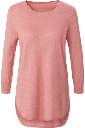 Peter Hahn Damen Pullover - Rundhals-Pullover 3/4-Arm rosé