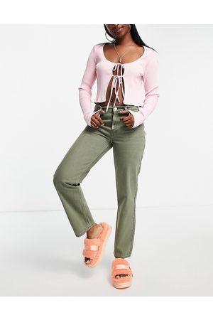 ASOS Damen Straight - Low rise straight leg jean in khaki-Green
