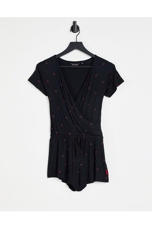 Ann Summers Damen Jumpsuits - Lounge teddy in black