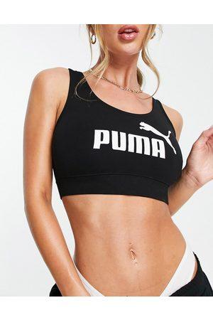 PUMA Damen Bustiers - Essentials logo bralette in black