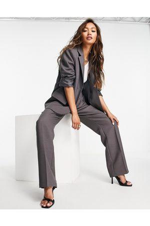 ASOS Masculine suit blazer in charcoal-Grey