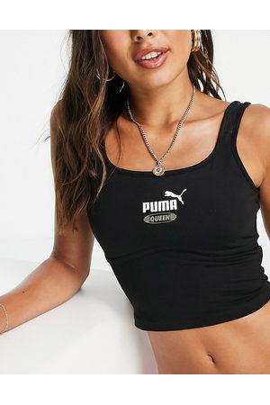 PUMA Queen structured bralette in black