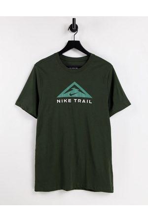 Nike Running Trail logo t-shirt in green