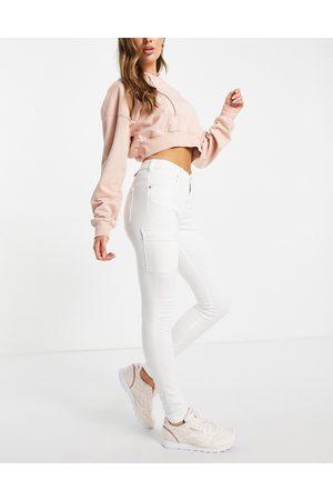 Dr Denim Damen Cargohosen - Lexy cargo trousers in off white