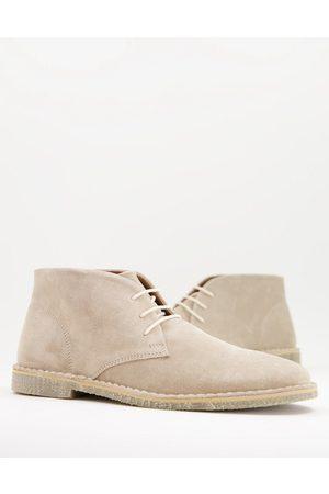 ASOS Herren Halbschuhe - Desert boots in stone suede-Neutral