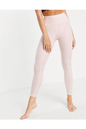 PUMA Damen Leggings - Yoga Studio yogini luxe high waist 7/8 leggings in light pink