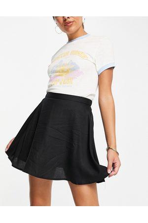 Monki Damen Miniröcke - Malina mini skater skirt in black