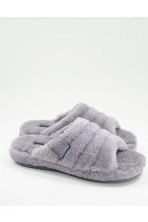 UGG Herren Halbschuhe - Fluff you sheepskin slippers in grey